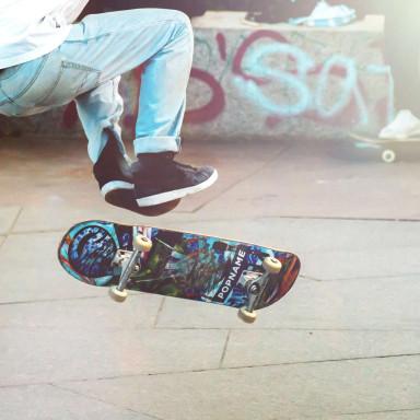 Skater real en Barcelona para spot marca de ropa